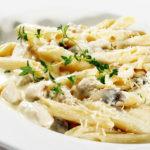 Φετουτσίνι με Κοτόπουλο και Σάλτσα λευκού κρασιού | Συνταγές για επαγγελματική κουζίνα | Ena Blog
