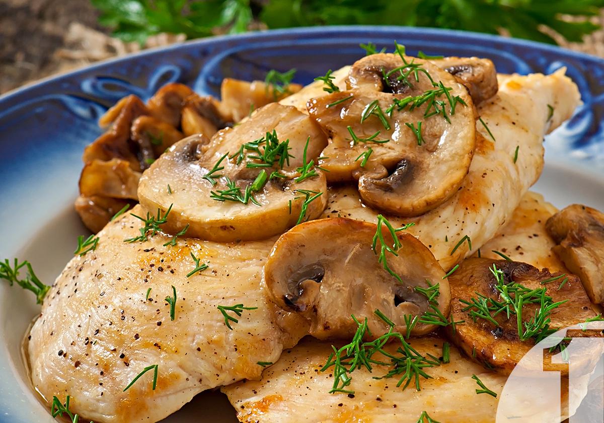 Στήθος κοτόπουλου με μανιτάρια   Ena Blog