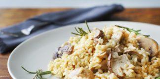 Ρύζι στο φούρνο με μανιτάρια και σέρι | Ena Blog