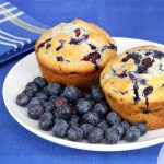 Muffins με blueberries και γιαούρτι | Ena Blog