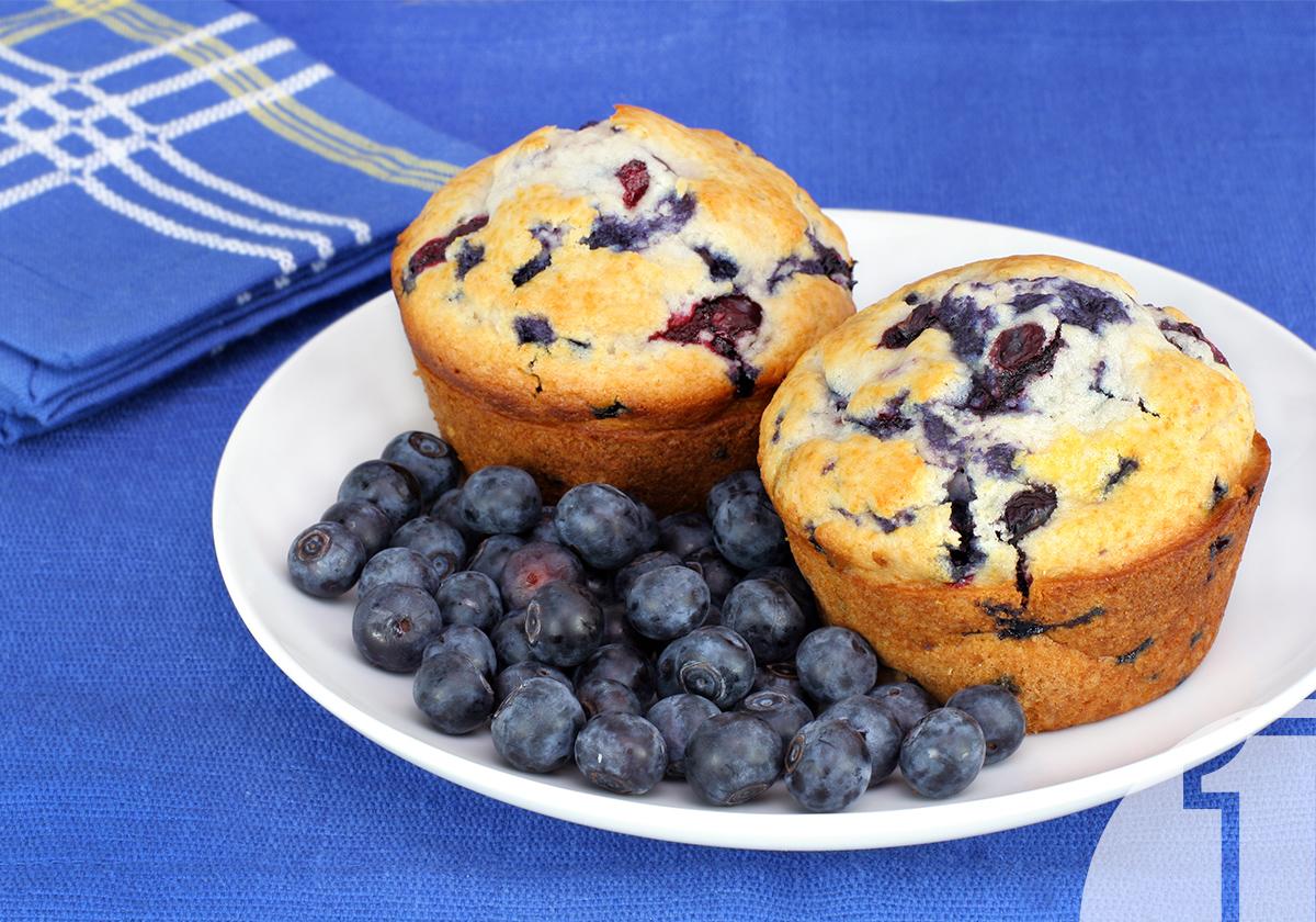 Muffins με blueberries και γιαούρτι   Ena Blog