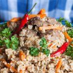 Αρνί γεμιστό με ρύζι | Ena Blog