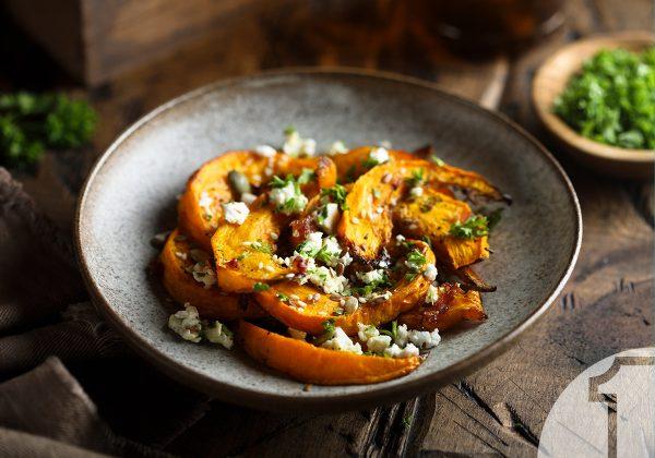 Πικάντικη ψητή κολοκύθα με σκόρδο | Ena Blog