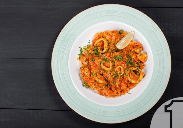 Ριζότο με καλαμαράκια   Ena Blog